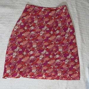 Ann Taylor Factory Floral and Flowy Skirt